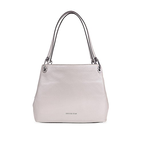 MICHAEL Michael Kors Women's Large Raven Shoulder Tote, Pearl Grey, One Size