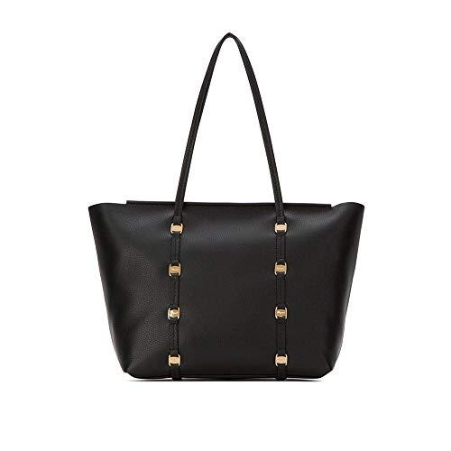 Ferragamo Vara Black Leather W/pouch Tote Bag 21H605
