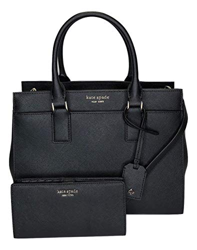 Kate Spade New York Cameron Medium Satchel WKRU5851 bundled with matching Slim Bifold Wallet (Black)