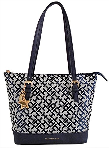 Tommy Hilfiger Top Handle Shopper Tote Handbag- Blue