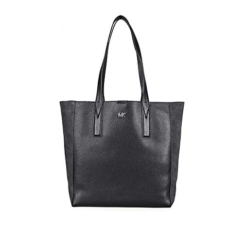 MICHAEL Michael Kors Junie Suede-Trim Tote (Charcoal/Black)