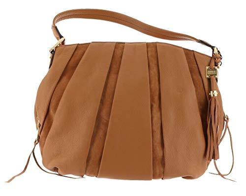 Aimee Kestenberg Pebble Leather & Suede Hobo Tuscany Latte New A282316