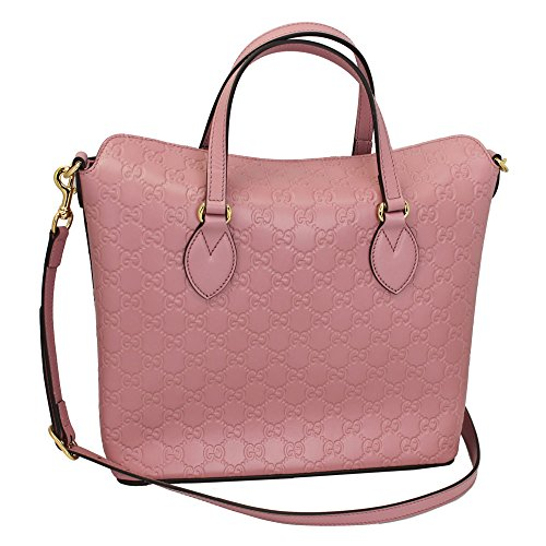 Gucci Guccissima Pink Leather Hand Bag With Strap 428226