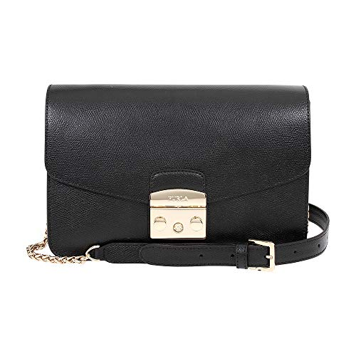 Furla Metropolis Ladies Small Black Onyx Leather Shoulder Bag 972392