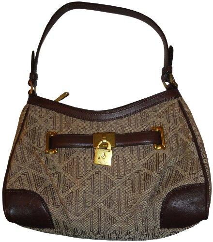 Women's Ralph Lauren Purse Handbag Small Signature Shoulder Bag Khaki/Brown