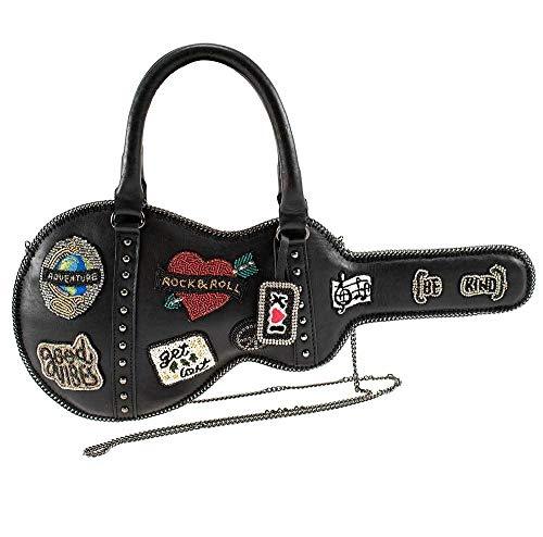 Mary Frances Road Show Leather Guitar Case Crossbody Handbag