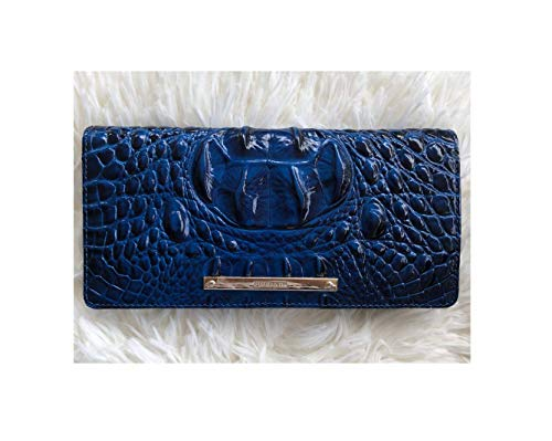 Brahmin Ady Melbourne Wallet Sapphire Blue Leather