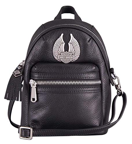 Harley-Davidson Women's Tiny Wings Bar & Shield Mini Bag, Black HDWBA11393-BLK