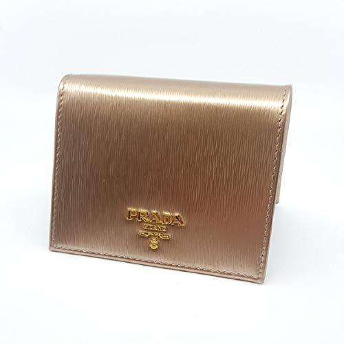 Prada Portafoglio Verticale Cipria Gold Mordore Vitello Move Flap Wallet 1MV204