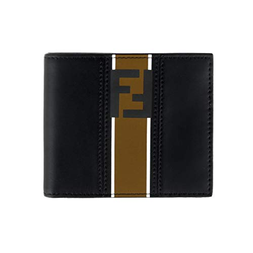 Fendi Forever Men's Black Leather Bi-fold Wallet 7M0169 A1R2