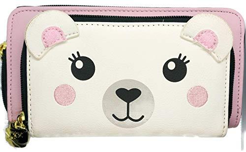 Betsey Johnson Luv Betsey White/Pink Bear Handbag Wallet