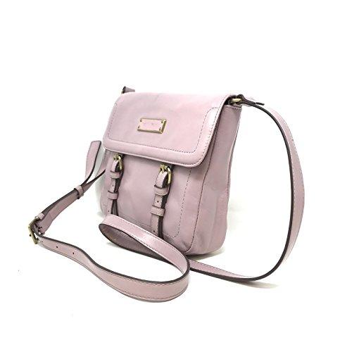 Tignanello A269257 Mauve Distressed Vintage Leather Flap Crossbody Bag