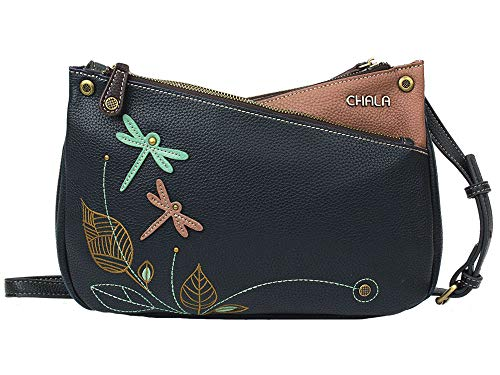 Chala Handbags Dragonfly Criss Cross Crossbody Handbag Purse
