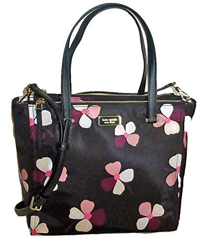 Kate Spade Dawn Dusk Buds Medium Satchel, Black Pink Multi