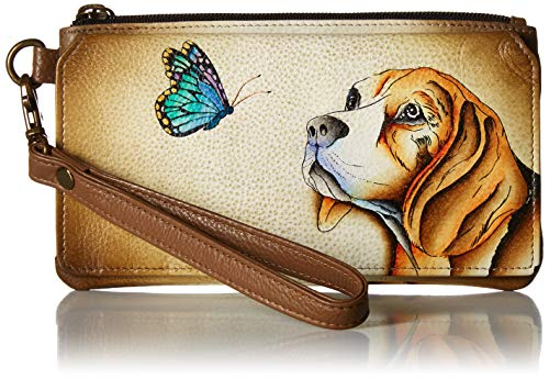 Anna by Anuschka Organizer Wallet | Genuine Leather | Puppy Love