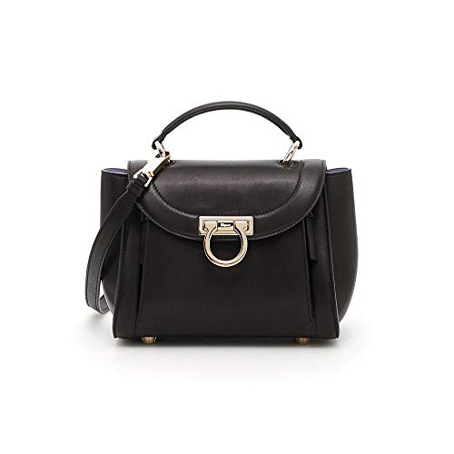 Salvatore Ferragamo Sofia Rainbow Leather Crossbody Bag- Black