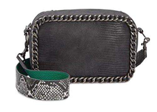 Circus by Sam Edelman Womens Keeley Chain Printed Crossbody Handbag Black Small