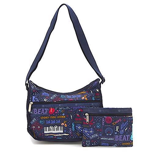 LeSportsac Little Orchestra Classic Hobo Crossbody Bag + Cosmetic Bag, Style 7520/Color E014