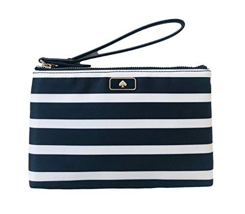 Medium Dawn Sailing Stripe Double Zip Wristlet Clutch Bag