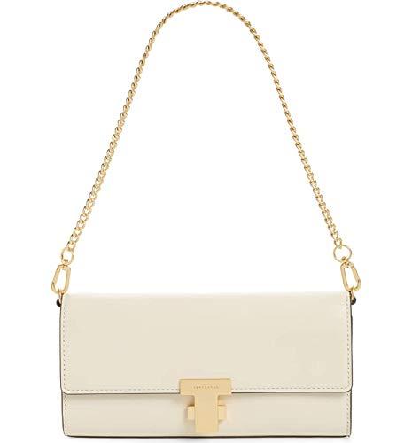 Tory Burch Women's Juliette New Cream Clutch Crossbody Handbag