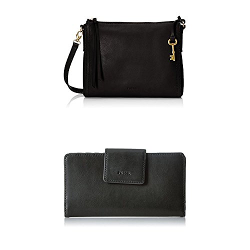 Fossil Emma E/w Crossbody with Wallet, Black