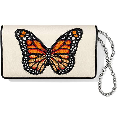 Brighton Monarch Dream Beaded Clutch Wallet