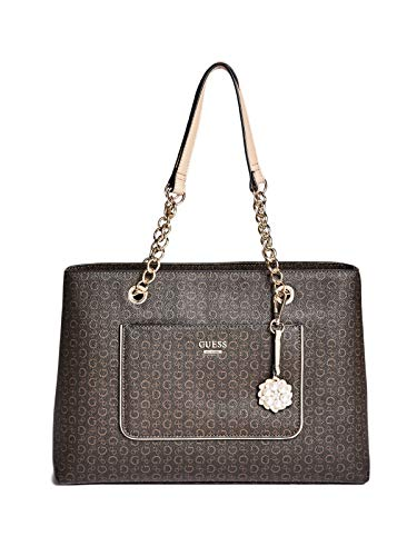 GUESS Factory Women's Nikolai Logo-Print Satchel