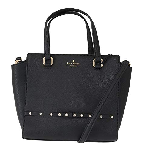 Kate Spade New York Laurel Way Jeweled Small Hadlee Shoulder Bag – Black