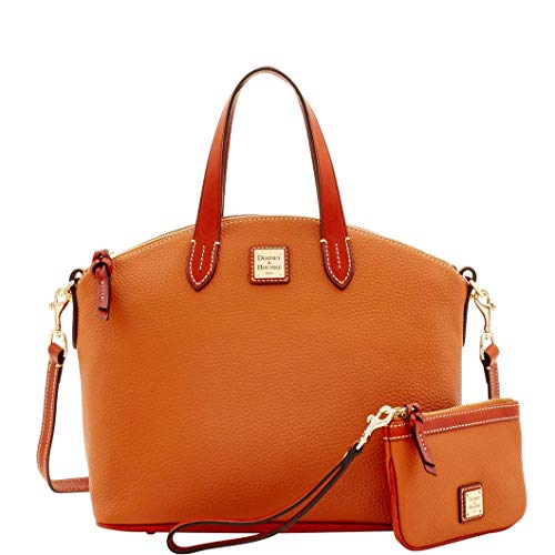 Dooney & Bourke Pebble Grain Satchel & Medium Wristlet