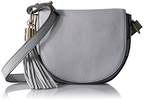 MILLY Astor Small Crossbody Saddle, Grey