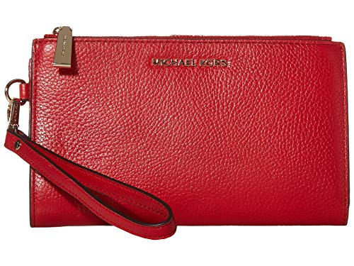 MICHAEL Michael Kors Double Zip Wristlet Bright Red One Size