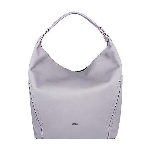Furla Lady Medium Gray Ornice Leather Hobo Bag 994630
