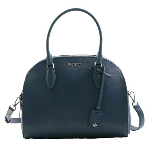 Kate Spade NY Large Dome Leather Satchel in Mixed Material Blazer Blue