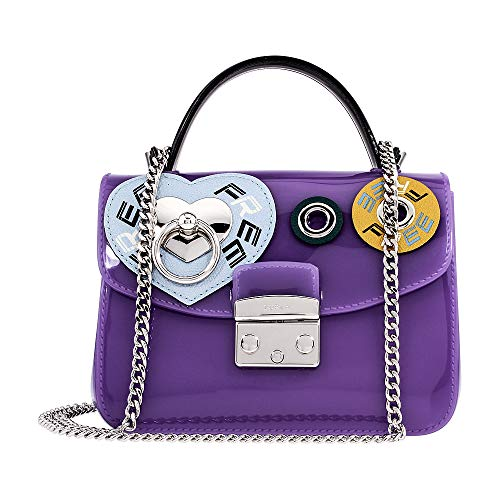 Furla Candy Ladies Small Purple PVC Crossbody 978661