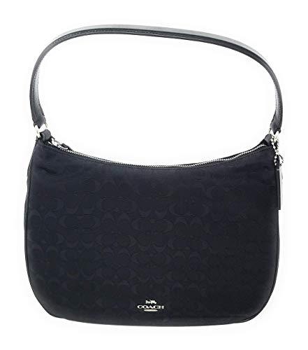 Coach SignatureNylon Zip Shoulder Bag