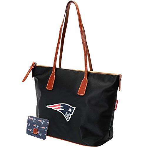 New England Patriots Dooney & Bourke Camden Sport Tote Bag Black