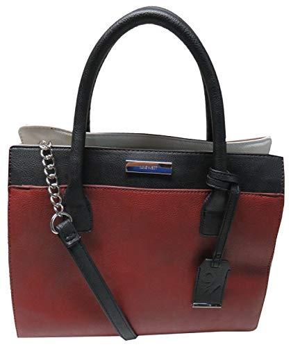 Nine West Purse Handbag Rosalie Tote Oxblood Multicolor