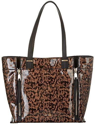 Nine West Printed Malani Tote Handbag One Size Black/brown