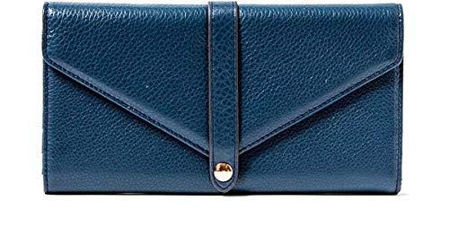 Aimee Kestenberg Sasha Leather Trifold Wallet w/Mirror Marine Blue Leather