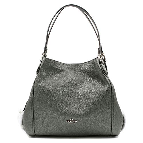 COACH Metallic Leather Edie 31 Sv/Metallic Graphite One Size