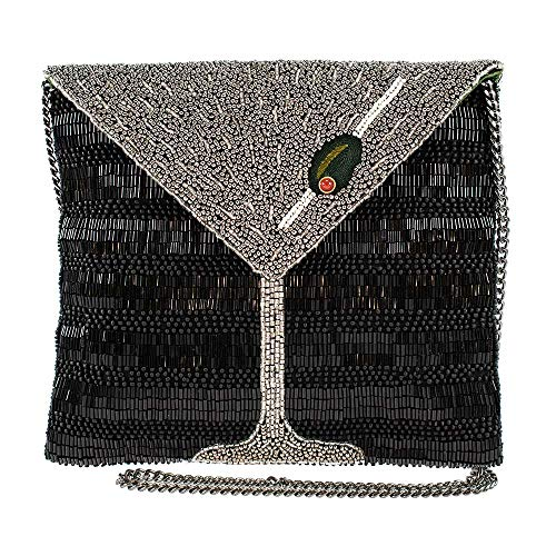 Mary Frances Straight Up, Beaded Martini Crossbody Clutch