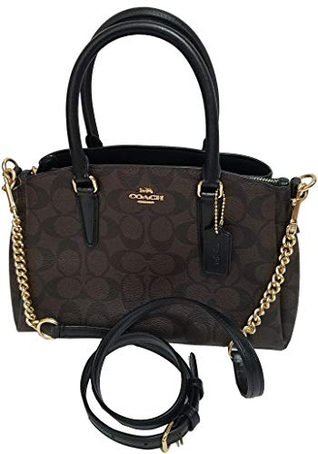 Coach Signature Sage Carryall Brown/Black Crossbody Sling Bag Purse Nwt