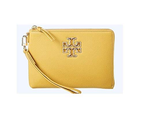 Tory Burch Britten Large Zip Pouch Wristlet Bag Cassia Yellow