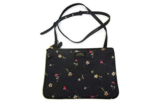 Ralph Lauren Chadwick, Double Zipper X Body women's Bag Floral, Black