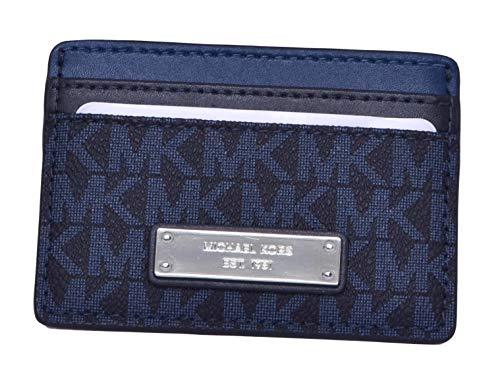 MICHAEL Michael Kors Signature Card Holder Blue Handbags & Accessories