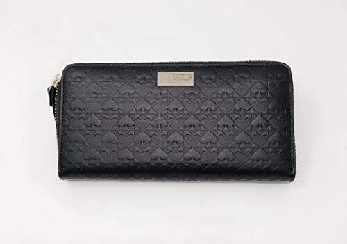 Kate Spade New York Neda Penn Place Embossed Leather Zip Around Continental Wallet Black, Large