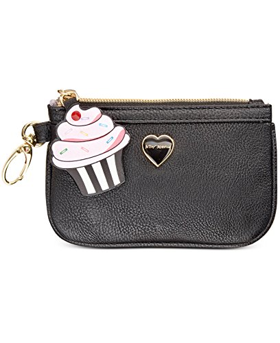 Betsey Johnson Cupcake Charm Zip Coin Pouch – Black