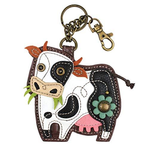Chala Cow Key Fob Coin Purse Keychain, Cow Lover Chala Handbags