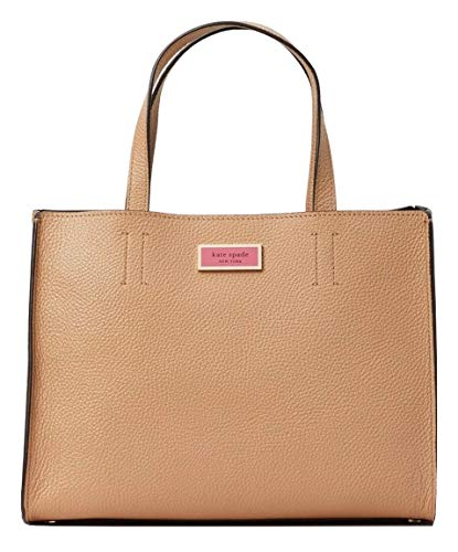 kate spade new york sam medium leather satchel bag, Light Fawn