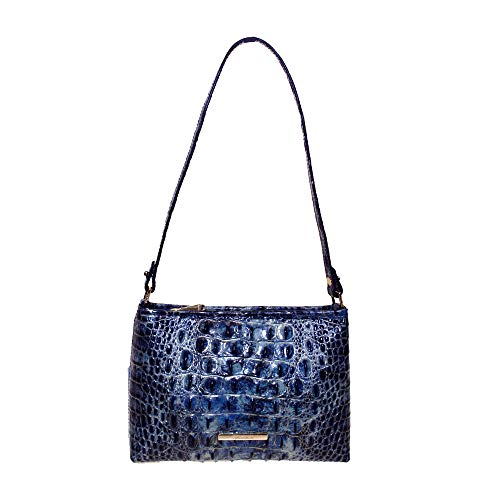 Brahmin Lorelei Croco emb leather small shoulder Bag Glacier Melbourne
